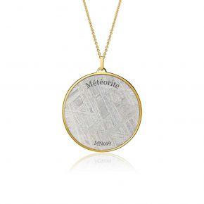 Meteorite Aeon pendant in yellow gold 44mm