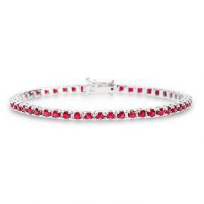 Ruby Tennis bracelet 4.22ct