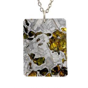 Stony-iron meteorite pendant