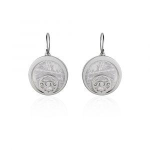 Boucles d'oreilles météorite Crop Circle Croissant de lune argent
