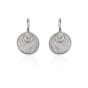 Boucles d'oreilles météorite Crop Circle Goutte argent