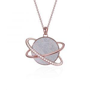 Pendentif météorite Hélio diamants et or rouge