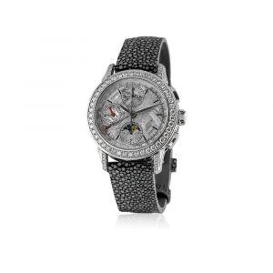 Montre Chronographe 38mm cadran météorite et diamants
