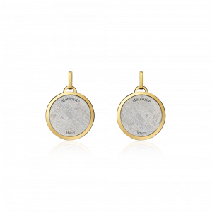 Meteorit Ohrringe Aeon mit Gelbgold