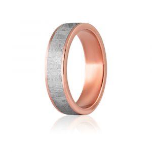 Ein schöner Ring in einem Meteoriten mit Redgold