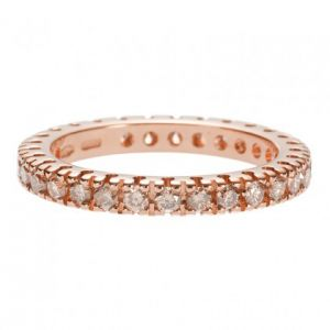 Diamant Trauringe mit braunen Diamanten 0.98ct