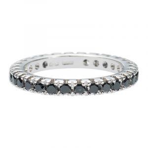 Diamant Trauringe mit schwarzen Diamanten 1.08ct