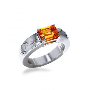 Ein Granat Mandarin Ring 2,19ct