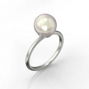 Weißer Perlenring