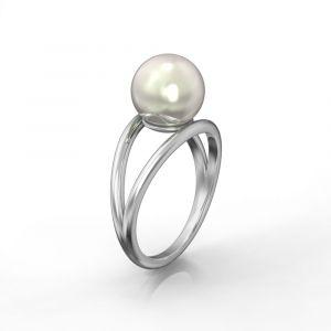 Ein doppelter Ring mit einer Perle