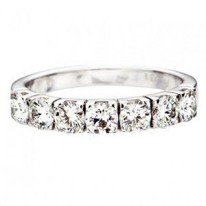 Halballianz Ringe mit 7 Diamanten 1.15ct