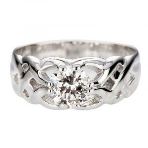 Diamond Gipsy ring 1.75ct