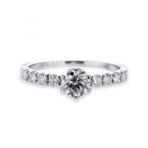Bague solitaire diamant Blanche Neige dès