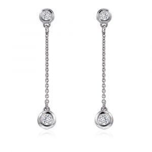 Boucles d'oreilles longues diamants
