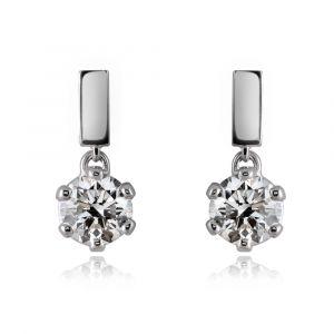 boucles d'oreilles diamant 1,00ct
