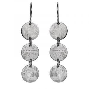 Ohrringe aus Meteorit und Silber