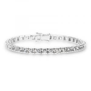 Tennisarmband mit Diamanten 4,98 ct