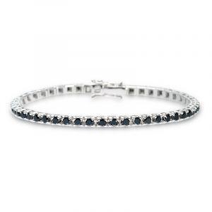 Tennisarmband mit schwarzen Diamanten 4,00ct