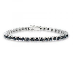 Tennisarmband mit schwarzen Diamanten 6,51ct