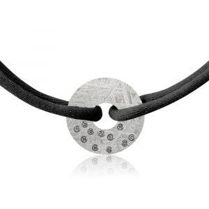 Constellation meteorite bracelet Pegasus and diamonds