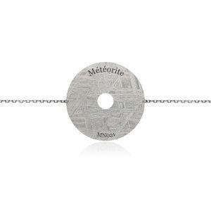 Constellation meteorite bracelet white gold