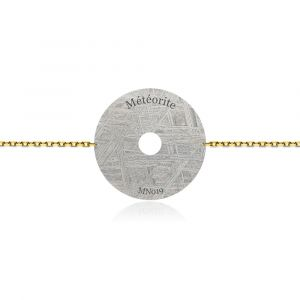 Constellation meteorite bracelet yellow gold