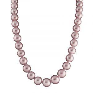 Collier perle rose orangé