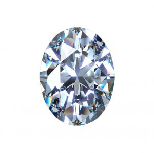 Synthetischer Diamant, Oval Schliff 2,00ct H SI1