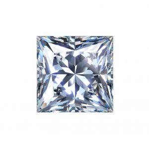 Synthetischer Diamant, Prinzess Schliff 2,04ct F VS2