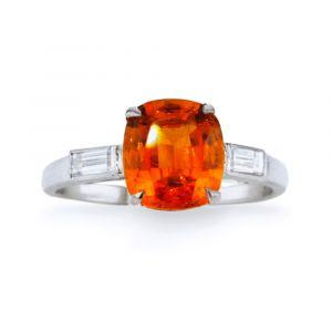 Ein Granat Mandarin Ring 3,21ct