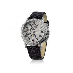 Montre Chronographe 44mm cadran météorite et diamants