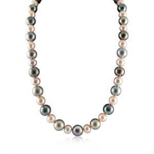Black Tahitian and Freshwater pearl necklace