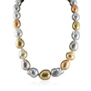 South Sea and gold pearl necklace