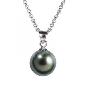 Tahitian pearl pendant silver