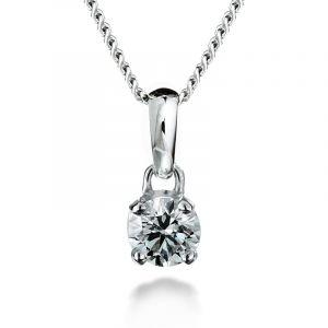 Diamant Anhänger 4 Krallen von