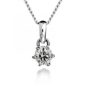 Diamant Anhänger 6 Krallen von