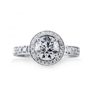 Bague solitaire duchesse diamant 1.00ct D SI1