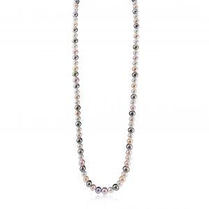 Tahitian, South Sea and Akoya long pearl necklace