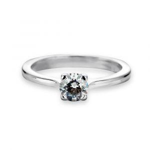 Bague solitaire diamant design dès