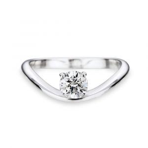 Bague solitaire diamant Océan dès
