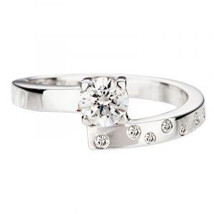 Bague solitaire diamant toi et moi dès