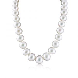 South Sea pearl diamond and gold necklace