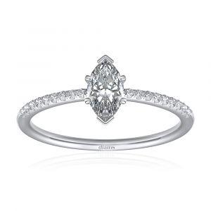 Bague diamant marquise dés