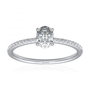 Bague diamant oval dés