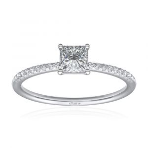 Diamant Solitär Ring Princesse von