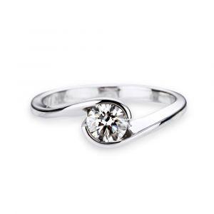 Bague solitaire diamant Ying Yang dès