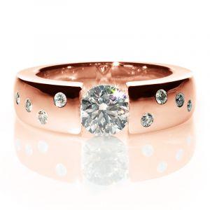Bague Solitaire Diamants 1.00ct Lune